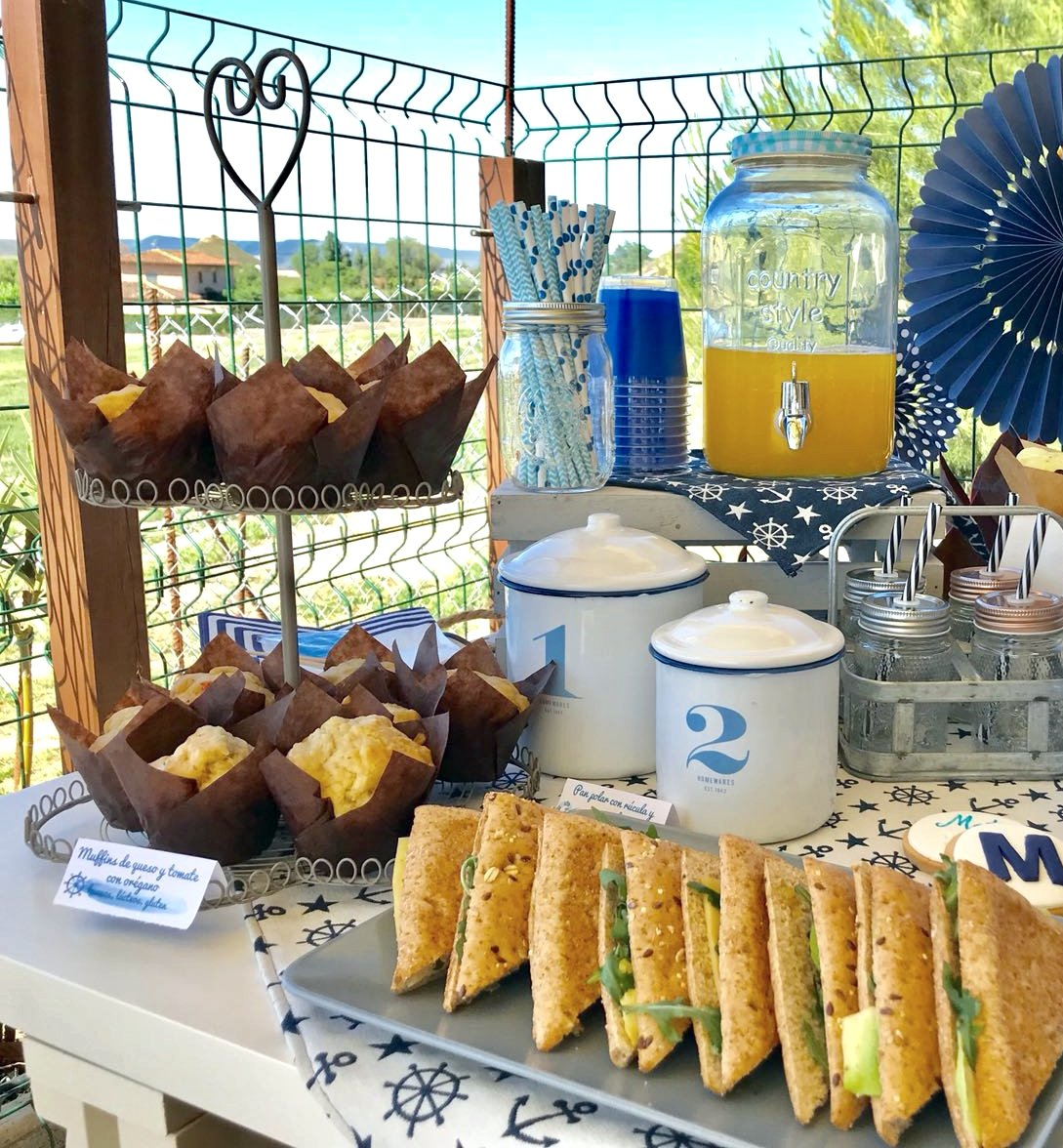 Mesa dulce marinera para comunion