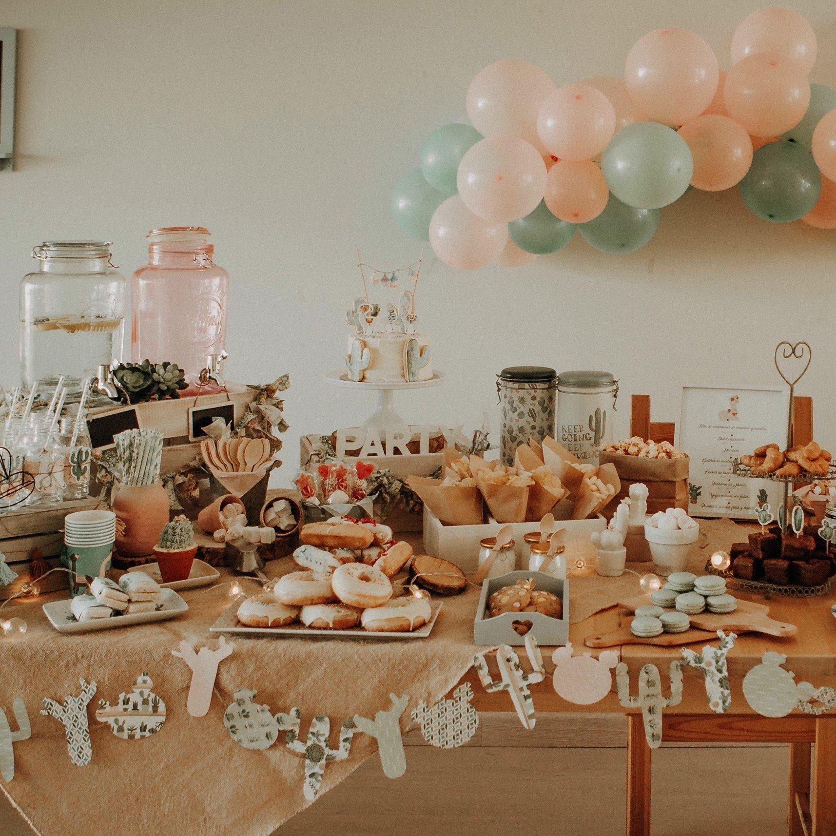 Mesa dulce de cumpleaños